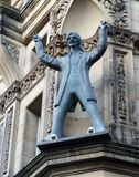Beatles鼓手林格・斯塔,利物浦雕象  免版税库存照片