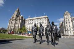Beatles,阿尔伯特船坞, Liverool 库存图片
