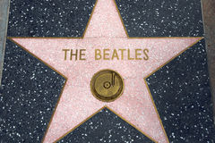 The Beatles. ' star at the Hollywood Walk of Fame stock photo
