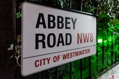 The Beatles Abbey Road Studios. The royalty free stock photo
