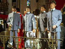 Beatles. Betles -sculptures in wax. The Beatles are still the most famous group in the world. Their influence on music history was immeasurable and the number of royalty free stock photography