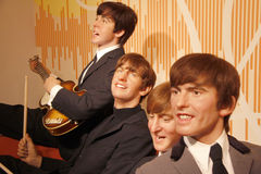Beatles. JULY 10, 2008 - BERLIN: the wax figures of the Beatles with Paul McCartney, Ringo Starr, John Lennon and George Harrison - official opening of the Royalty Free Stock Photography