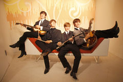 Beatles. JULY 10, 2008 - BERLIN: the wax figures of the Beatles with Paul McCartney, Ringo Starr, John Lennon and George Harrison - official opening of the stock photo