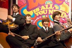 Beatles in Mevrouw Tussauds van Londen Stock Foto