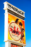 The Beatles at The Mirage hotel ad Stock Photo
