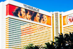 The Beatles at The Mirage hotel. LAS VEGAS - SEPTEMBER 27: Beatles at The Mirage hotel. The Beatles show Love is written and directed by Dominic Champagne. Las Royalty Free Stock Photo