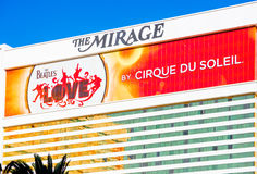 The Beatles at The Mirage hotel. LAS VEGAS - SEPTEMBER 27: Beatles at The Mirage hotel. The Beatles show Love is written and directed by Dominic Champagne. Las Royalty Free Stock Photos