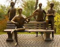 Beatles monument. In Kok Tobe, Almaty royalty free stock image