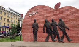 Beatles monument, Mongolia Stock Photo