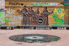The Beatles Monument in Yekaterinburg, Russia Royalty Free Stock Images