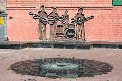 The Beatles Monument in Yekaterinburg, Russia. The monument was unveiled on May 23, 2009; this is the first monument to The Beatles in Russia Royalty Free Stock Images