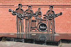 The Beatles Monument in Yekaterinburg, Russia. The monument was unveiled on May 23, 2009; this is the first monument to The Beatles in Russia Stock Photo