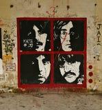 Beatles op graffiti Royalty-vrije Stock Afbeeldingen