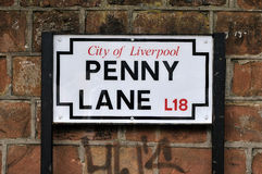 The Beatles Penny Lane Stock Photography