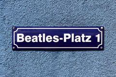 Beatles-Platz Images libres de droits