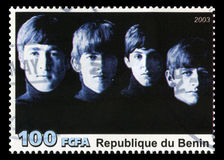 The Beatles Postage Stamp from Benin. REPUBLIQUE DU BENIN - CIRCA 2003: A postage stamp portraying an image of The Beatles, circa 2003 Stock Photos