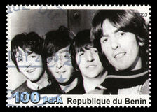 The Beatles Postage Stamp from Benin. REPUBLIQUE DU BENIN - CIRCA 2003: A postage stamp portraying an image of The Beatles, circa 2003 Stock Photography