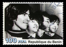 The Beatles Postage Stamp from Benin Stock Photography
