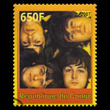 The Beatles Postage Stamp from Congo. REPUBLIQUE DU CONGO - CIRCA 2007: A postage stamp portraying an image of The Beatles, circa 2007 Stock Photo