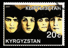 Beatles Postage Stamp from Kyrgyzstan Royalty Free Stock Photography