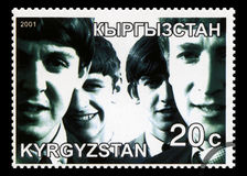 Beatles Postage Stamp from Kyrgyzstan Royalty Free Stock Images
