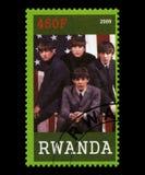 Beatles Postage Stamp from Rwanda. RWANDA, AFRICA - CIRCA 2009: A postage stamp from Rwanda portraying an image of The Beatles, circa 2009 Stock Photography