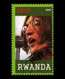 Beatles Postage Stamp from Rwanda Royalty Free Stock Photos