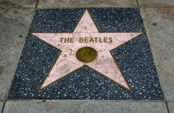 The Beatles`s Star, Hollywood Walk of Fame - August 11th, 2017 - Hollywood Boulevard, Los Angeles, California, CA Royalty Free Stock Photos