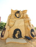 The Beatles. Sand sculpture of The Beatles at the Burgas Sand Fest festival in Burgas, Bulgaria. The festival is open from July 2 until September 30, 2013. Photo royalty free stock photo