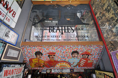 Beatles shop mathew street in liverpoo Royalty Free Stock Photo