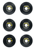 Beatles singles. MANILA, PH - CIRCA 1960: Rare 45rpm vinyl copies of The Beatles singles released in the Philippines on circa 1960 Royalty Free Stock Image