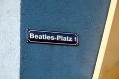 Beatles square on Reeperbahn street, Hamburg, Germany Stock Image