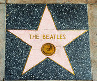 Beatles star in Hollywood walk of fame. LOS ANGELES, CALIFORNIA - NOVEMBER 2, 2016: Beatles star in Hollywood walk of fame Stock Photos