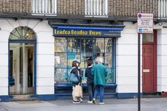 Beatles store exterior in London, UK royalty free stock images