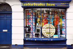 Beatles store in London. The Beatles store sells only objects and marchandising inspired to the Beatles Stock Photo