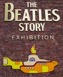 The Beatles Story Exhibition. Liverpool, UK - June 14, 2014: A sign for 'The Beatles Story' Exhibition in Liverpool on 14th June 2014 Stock Image