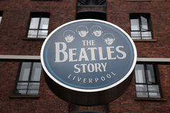 The Beatles Story, opened since May 1990. LIVERPOOL, UK - JUNE 16: The Beatles Story, opened since May 1990 in Albert Dock, Liverpool, gives guests an exciting Royalty Free Stock Image