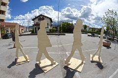 Beatles-Tage in Belluno Stockbilder