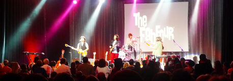 Beatles Tribute Band, Let it Be. 02/19/2015 The Fab Four, Beatles Tribute band play all the favorite songs at the Chumash Casino, in Santa Ynez California Royalty Free Stock Image