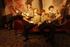 The Beatles Wax Figures. Wax figures of The Beatles at Madame Tussauds in New York City royalty free stock photography