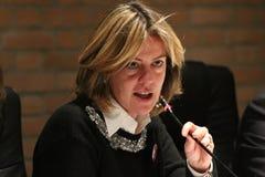 BEATRICE Lorenzin, minister Healt, jawna polityczna konferencja MODENA WŁOCHY, LUTY - 24, 2018 - fotografia royalty free