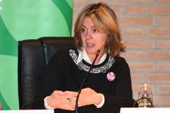 BEATRICE Lorenzin, minister Healt, jawna polityczna konferencja MODENA WŁOCHY, LUTY - 24, 2018 - obraz stock