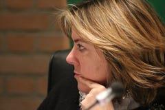 BEATRICE Lorenzin, minister Healt, jawna polityczna konferencja MODENA WŁOCHY, LUTY - 24, 2018 - zdjęcie royalty free