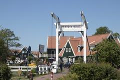 Beatrix bridge in Marken. Netherlands,North Holland,Marken, june2016: Beatrix bridge in Marken Stock Photos