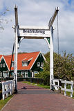 Beatrix bridge in village Marken Royalty Free Stock Photo
