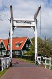 Beatrix bridge in village Marken. Beatrix bridge in the village Marken, the Netherlands Royalty Free Stock Photo