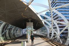 Beatrixkwartier tram station also known as the Netkous for HTM randstadrail in Den Haag the Netherlands.  stock image
