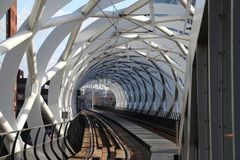 Beatrixkwartier tram station also known as the Netkous for HTM randstadrail in Den Haag the Netherlands.  stock photos