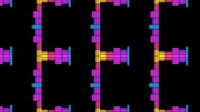 Beats Audio Music Equalise Levels Graphic Computer Generated Technology. This 4K computer generated Audio Music Equalise Volume Levels Graphic could be used for royalty free illustration