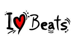 Beats music style love. Creative design of Beats music style love royalty free illustration